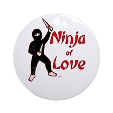 Ninja of Love Ornament (Round)