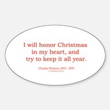 Charles Dickens 2 Oval Decal