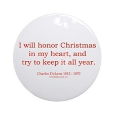 Charles Dickens 2 Ornament (Round)
