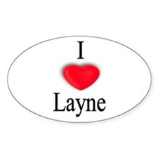 Layne Oval Decal