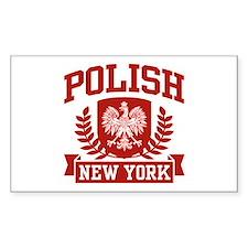 Polish New York Rectangle Decal