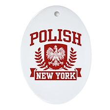 Polish New York Oval Ornament