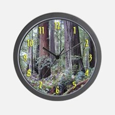 World's Tallest Trees Redwoods Wall Clock
