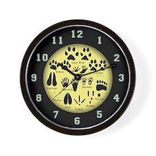 Animal Tracks Wall Clock