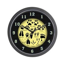 Animal Tracks Wall Clock