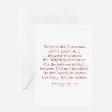 Pope Paul VI 1 Greeting Card
