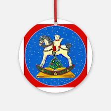 Teddy Bear / Pony Ornament (Round)