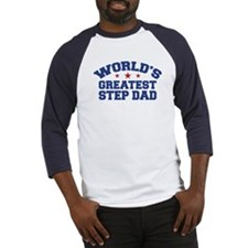 World's Greatest Step Dad Baseball Jersey