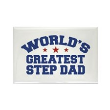 World's Greatest Step Dad Rectangle Magnet