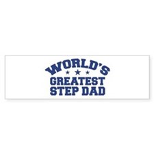 World's Greatest Step Dad Bumper Car Sticker