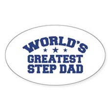World's Greatest Step Dad Oval Decal