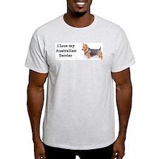 """I Love My Australian Terrier"" Ash Grey T-Shirt"