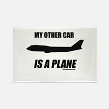 My Other Car is a Plane Rectangle Magnet