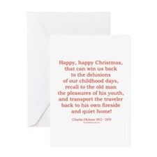Charles Dickens 4 Greeting Card