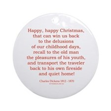 Charles Dickens 4 Ornament (Round)