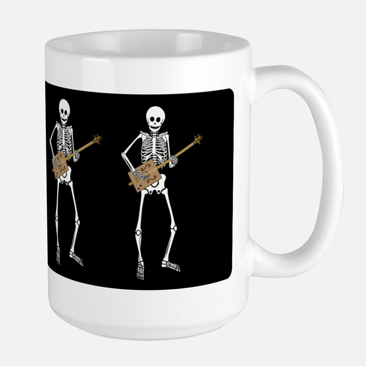 Cigar Box Guitar Bones Large Mug