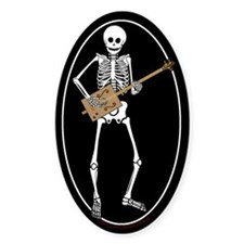 Cigar Box Guitar Bones Oval Decal