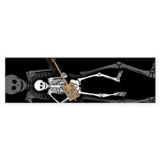 Cigar Box Guitar Bones Bumper Car Sticker