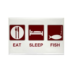 Eat Sleep Fish Rectangle Magnet (10 pack)
