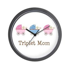 Triplet Mom Baby Buggies GGB Wall Clock