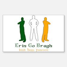 Irish Boys Forever Rectangle Decal