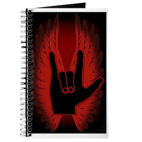 Love Hand Symbol Angel Wings Journal