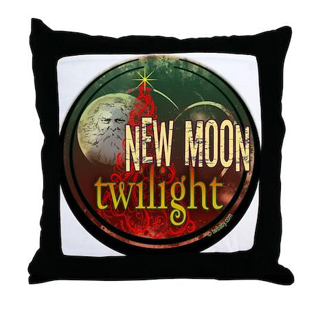 New Moon Santa Moon Throw Pillow