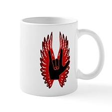 Love Hand Symbol Angel Wings Mug