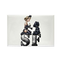 S&M SF Teddy Rectangle Magnet (100 pack)