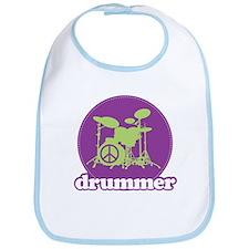 Cool Retro Drummer Bib