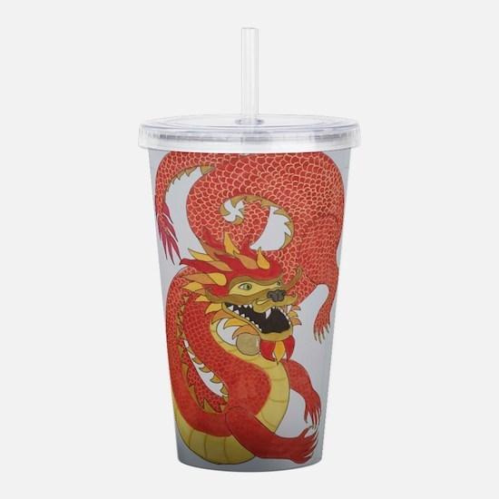 Chinese Dragon Acrylic Double-wall Tumbler