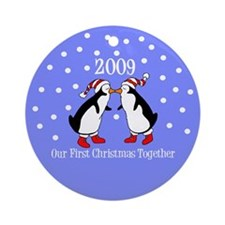 Our First Christmas Together (Penguins) Ornament