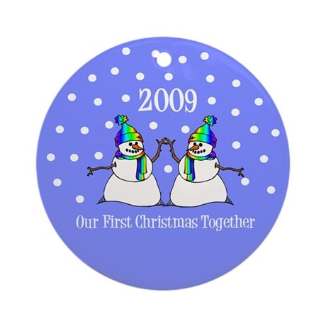Our First Christmas Together (Snowmen) Ornament