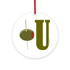 OLIVE U (I LOVE YOU) Ornament (Round)