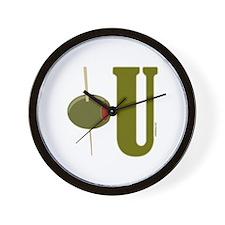 OLIVE U (I LOVE YOU) Wall Clock
