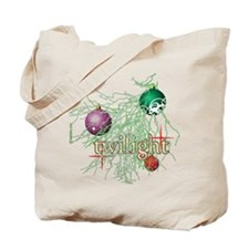 Twilight Christmas Bulbs Tote Bag