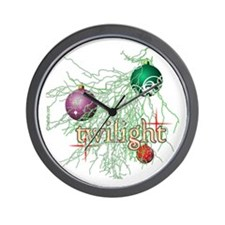 Twilight Christmas Bulbs Wall Clock