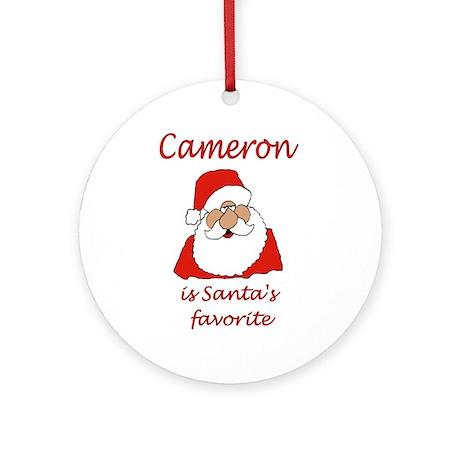 cameron christmas Ornament (Round)