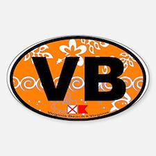 Virginia Beach VA Oval Decal