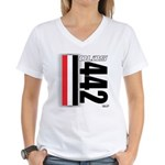 Oldsmobile 442 Women's V-Neck T-Shirt