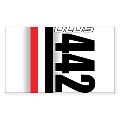 Oldsmobile 442 Rectangle Decal