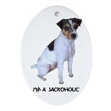 I'M A JACKOHOLIC Oval Ornament