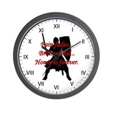 Honor is Forever Wall Clock