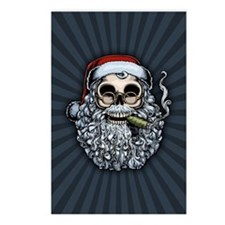 Smokin' Santa Skull Postcards (Package of 8)