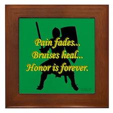 Honor is Forever Framed Tile