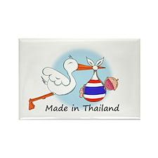 Stork Baby Thailand Rectangle Magnet