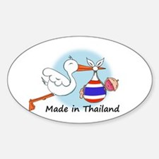 Stork Baby Thailand Oval Decal