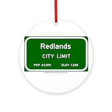 Redlands Ornament (Round)