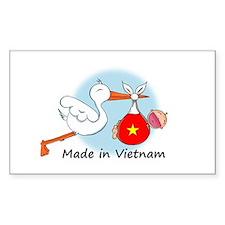 Stork Baby Vietnam Rectangle Decal