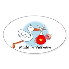 Stork Baby Vietnam Oval Decal